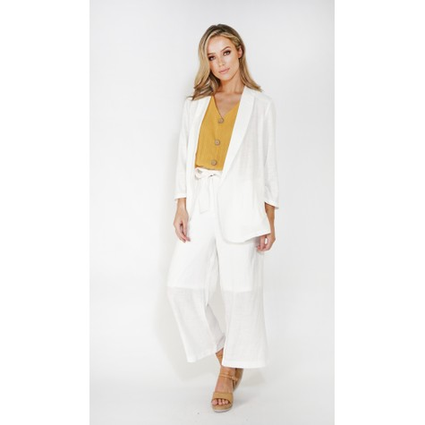 SophieB linen look unstructured blazer