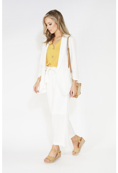 Sophie B linen look unstructured blazer