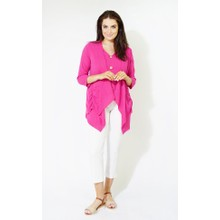 SophieB Fushia Rouched Light Knit