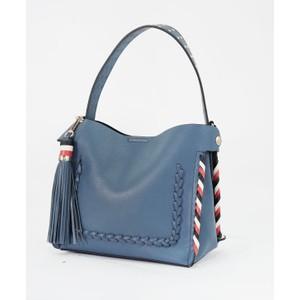 Bestini Blue Gold Studded Detail Handbag