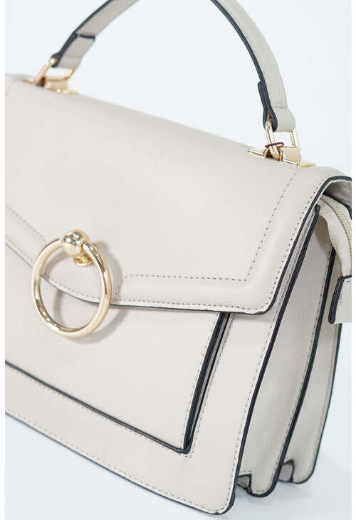 Bestini Ecru Gold Ring Accessory Handbag