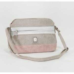 Pamela Scott Taupe & Pink Two Tone Handbag