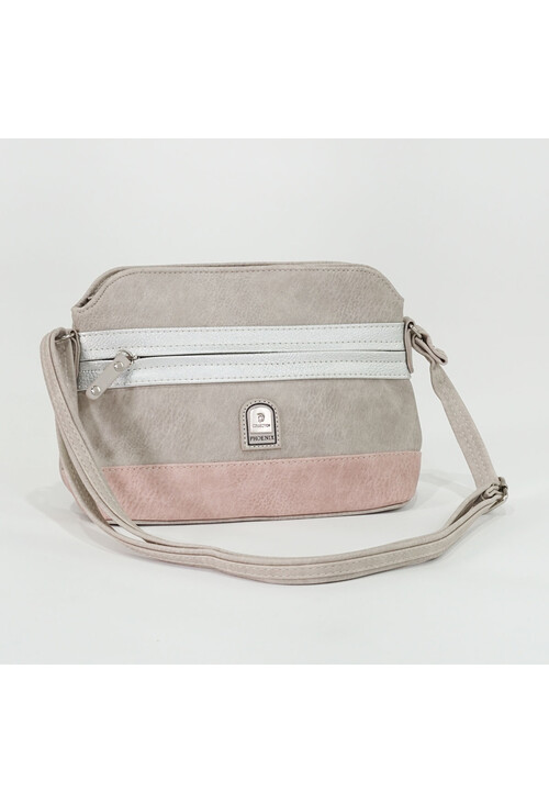 Pamela Scott Taupe & Pink Two Tone Handbag