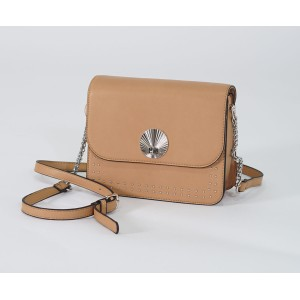 Bestini Camel Silver Stud Detail Handbag