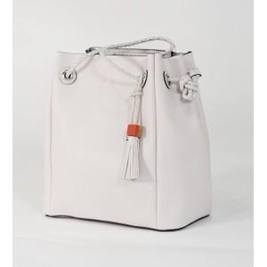 Bestini Ecru Rope Detail Shopper Handbag