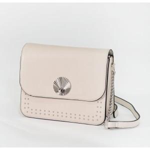 Bestini Pale Pink Silver Stud Detail Handbag