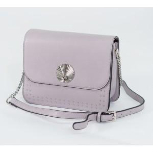 Bestini Lilac Silver Stud Detail Handbag