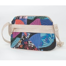 Pamela Scott Beige & Abstract Print Cross Body Handbag