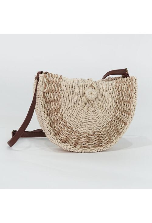 Bestini Beige Wicker Style Handbag