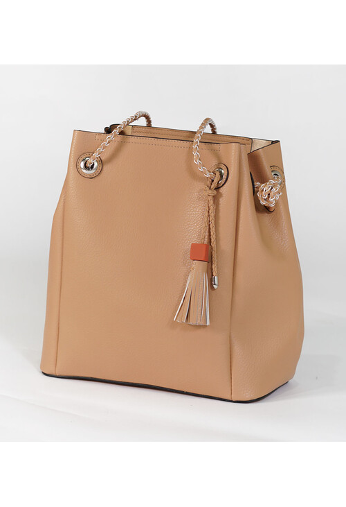 Bestini Beige Rope Detail Shopper Bag