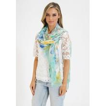 Pamela Scott Green, Yellow & Blue floral Print Scarf
