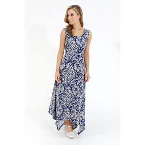 Stella Morgan Navy & Cream Pattern Long Dress