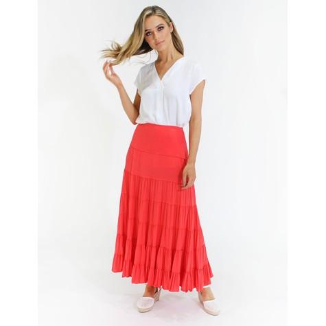 Zapara Coral peasant style maxi skirt