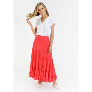 Zapara pleat front white top