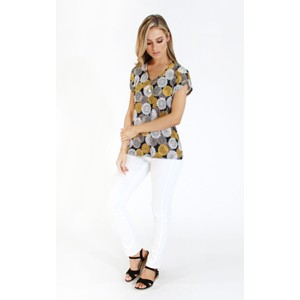 SophieB Geo Print Top with Pendant Detail