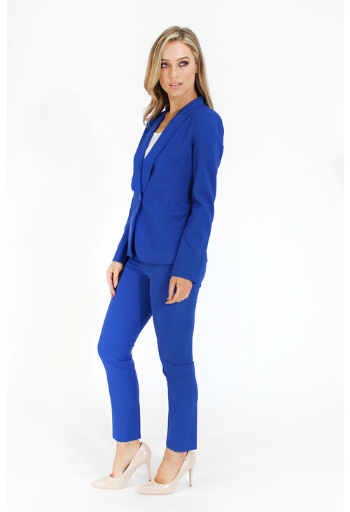 Pamela Scott Royal Blue Formal Skinny Trousers
