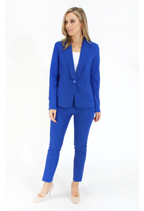 Pamela Scott Royal Blue Shawl Collar Jacket