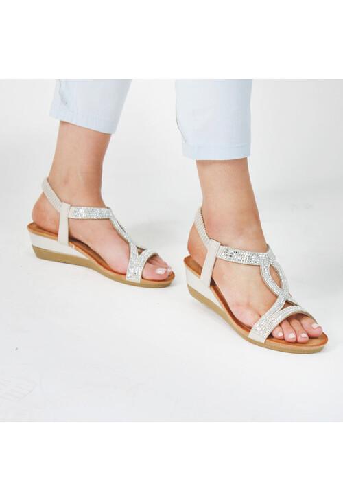 Pamela Scott Pink Diamante Detail Sandal