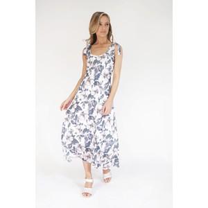 SophieB Khaki Rose Print Sleeveless Dress