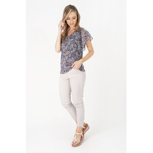 SophieB Sophie B Flutter Sleeve Top with Necklace Detail