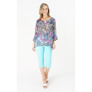 Twist  Printed Tunic with Sleeves