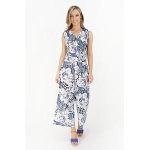 Stella Morgan Blue Floral Pattern Print Jumpsuit