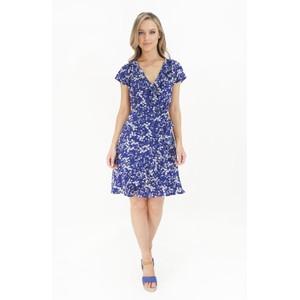 Stella Morgan Blue & White Floral Frill Detail Dress