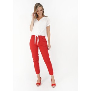 YOU YOU Red Denim Tousers