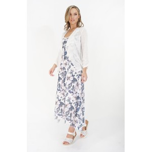 Sophie B White Drape Light Weight Summer Knit