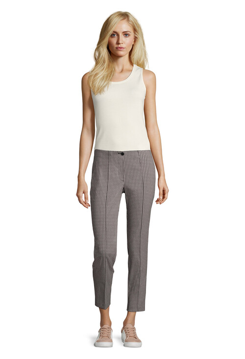 Betty Barclay Dark Blue / White Stretch Pants
