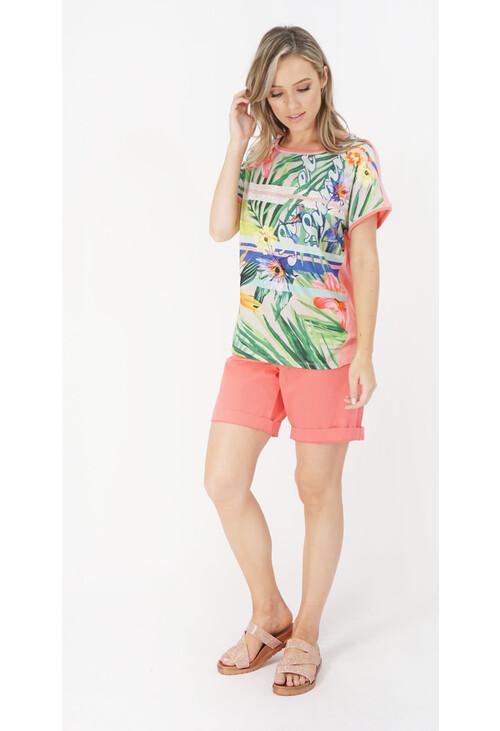 Betty Barclay Red / Petrol Blouse Shirt