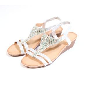 Pamela Scott Silver Diamante Sandals