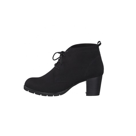 Marco Tozzi Black Suede Effect Laced Dessert Boot