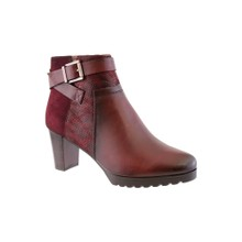 Susst Mulberry Block Heel Plain Front Ankle Boot