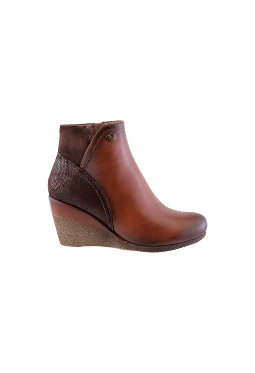 Susst Tan Mid Wedge Ankle Boot