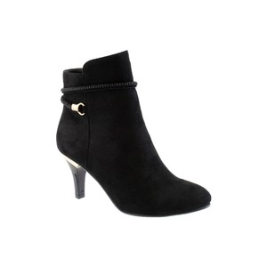 Susst Black Mircofibre Ankle Boot