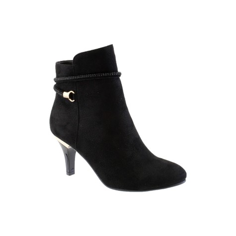 Susst Black Mircofibre Ankle Boot