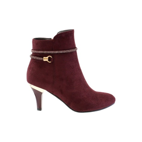 Susst Burgundy Mictofibre Ankle Boot