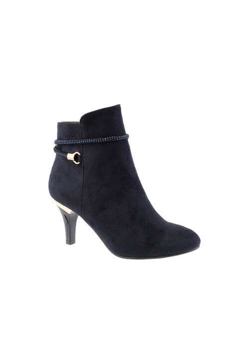 Susst Navy Microfibre  Ankle Boots