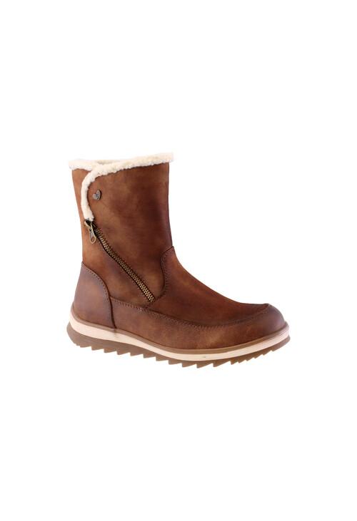 Susst Tan Antique Plain Ankle boot