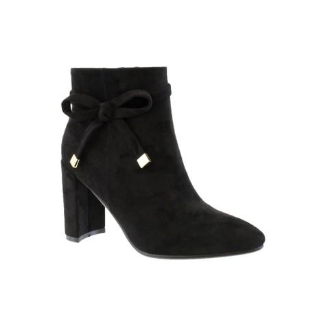 Susst Black Mircofibre Sculptured Heel Ankle Boot