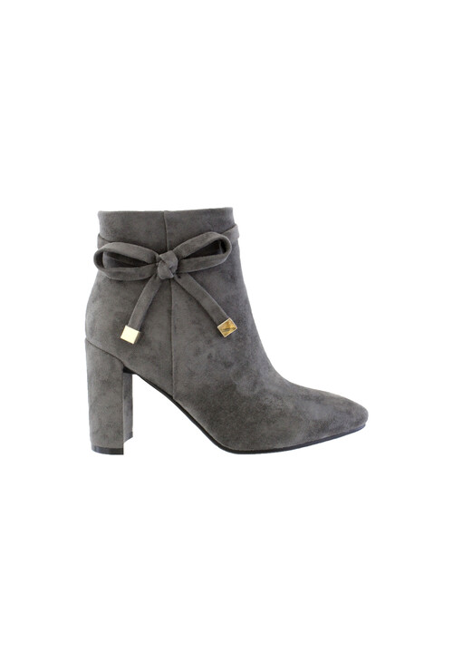 Susst Grey Microfibre Sculptured Heel Ankle Boot
