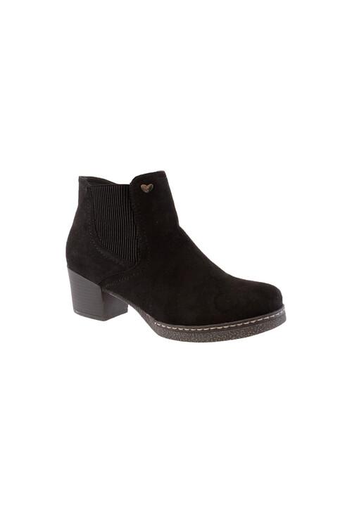 Susst Black Mircofibre Chelsea Ankle Boot
