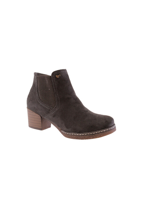 Susst Grey Mircofibre Chelsea Ankle Boot