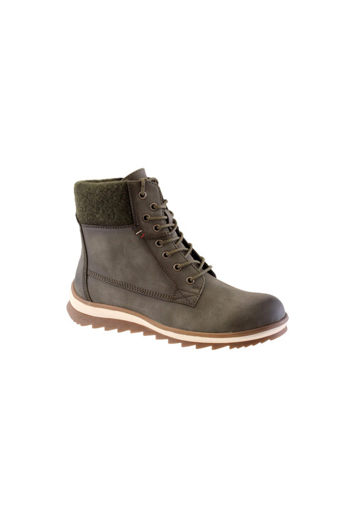Susst Green Laced Chukka Style Ankle Boots