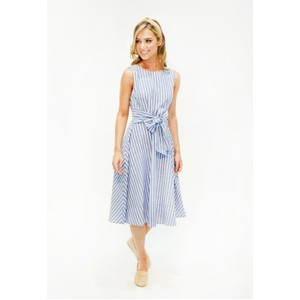 Pamela Scott  Blue Stripe A line Dress