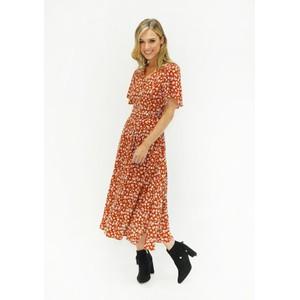 Zapara  Floral Button Down Dress