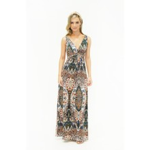 Stella Morgan  Peacock Print Maxi Dress