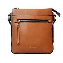 Gionni  Tan Front Zip Cross Body Bag