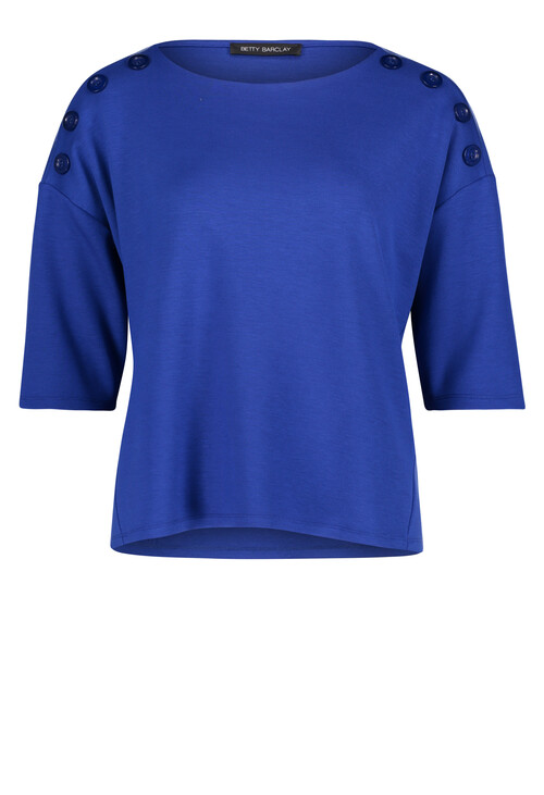 Betty Barclay Blue Sweatshirt with Buttons